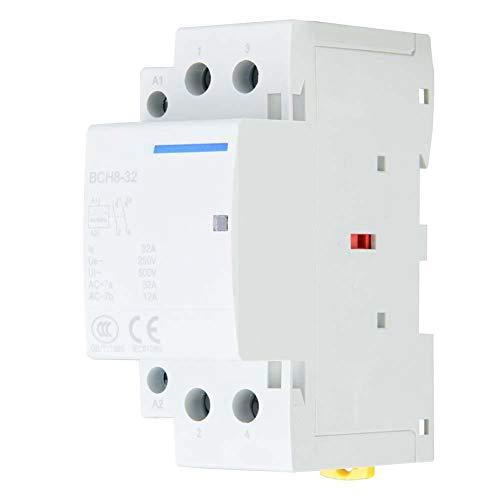 Contactor AC de Carril DIN 32A, 2 polos, 2NO 50 / 60HZ(220V/230V)