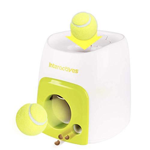 whc0815 Haustier Tennis Ball Launcher Spielzeug Automatische Interaktive Ball Tennis Launcher Hund Haustier Spielzeug Training Spiel Hund Holen Maschine Spaß Essen Spender