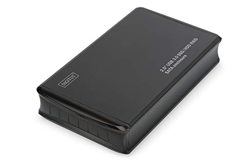 DIGITUS 2, 5'' USB3.0 SSD/HDD Raid SATA Gehäuse USB 3.0 Unterstützt JBOD, Raid0, Raid1