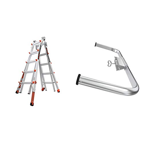 Little Giant Ladder Systems 12022-801 RevolutionXE Multi-Purpose Ladder, 22 Ft, Black + 10111 Wing Span/Wall Standoff