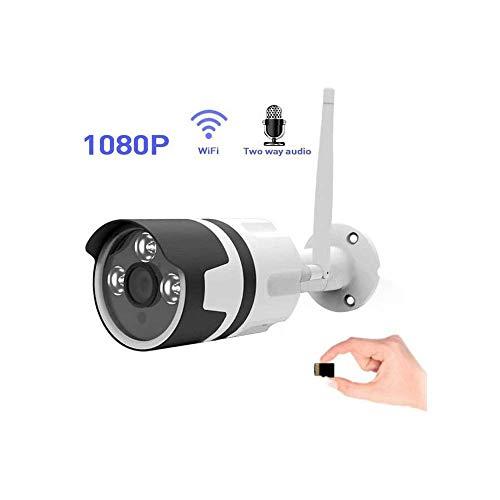 WYJW Bullet-Kameras Außenüberwachungskamera 1080P Super-HD-IP-Kamera Mit Infrarot-Nachtsicht und Zwei-Wege-Audio-Überwachungskamera für künstliche Intelligenz