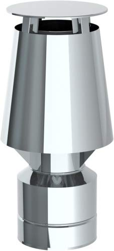 Düsenaufsatz mit Universaleinschub für Schornstein Einwandig und Doppelwandig Mündungsabschluss Auswahl-JET-Aufsatz JET-130