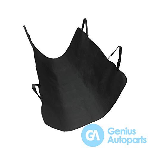Genius Autoparts Auto-Rücksitzbezug für Haustiere, wasserdicht, 600D Oxford-PVC, Hängematte schwarz
