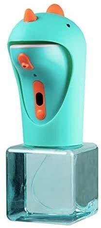 Dispensación de jabón, bomba de loción, conjunto de bomba de jabón de baño, dibujos animados Dinosaurio Dispensador de jabón de espuma automática Sensor inteligente para niños Lavadora de manos Cocina