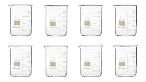 Glass Griffin Beaker, Low Form, 250ml (Pack of 8)