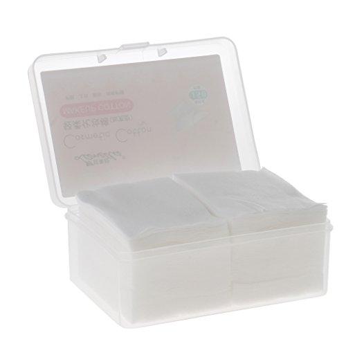 SM SunniMix Cotton Cosmetic Pads Gesichtsmake Up Entferner Wischvlies 150 Blatt 51x69mm