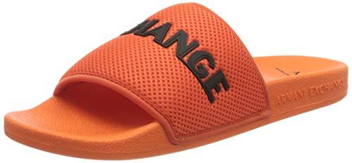 Armani Exchange Mesh Pool Slides, Chanclas Hombre, Naranja (Orange+Black M611), 41 EU
