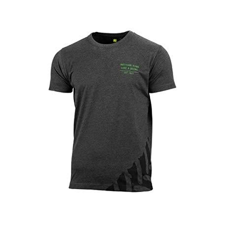John Deere T-Shirt Tracks Dunkelgrau (L)