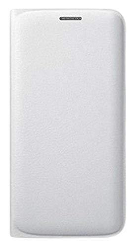 Samsung Custodia Flip Wallet in finta pelle per Galaxy S6 Edge, Bianco