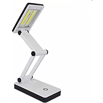 [New Version] TOMOL Super Bright COB LED Portable Desk Lamp Travel Lamp :Foldable, Touch Sensitive Control, 3 Adjustable Brightness Levels, Battery and USB Powered