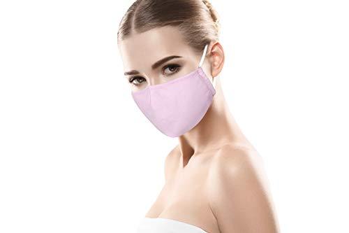 PRECORN Mund- & Nasenmaske Mund Nasen Schutzmaske in rosa Mundschutz Maske 3-lagig Wiederverwendbare Masken 100{9777c348446a2eba033ba3f3a845ffb4289f63b780d6488582b264a1cf570207} Baumwolle