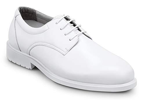 SR Max Arlington, Men's, White, Dress Style Soft Toe Slip Resistant Work Shoe (13.0 EW)