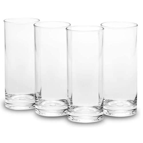 GFRGFH Vaso de agua de plástico de alta taza de agua cristalería acrílica puede ser reutilizado adecuado para oficina, hogar, bar, restaurante, salón, café