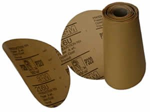 3M Company 3M-1213 Stikit Gold P80 Grade Sanding Discs - 75 Disc Roll
