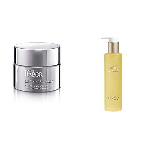 BABOR DOCTOR LIFTING CELLUAR Collagen Booster Cream, Anti-Falten-Creme mit Hyaluronsäure-Komplex, Feuchtigkeitscreme, 50 ml & CLEANSING HY-ÖL hydrophiles Reinigungsöl, für jeden Hauttyp, 1 x 200 ml