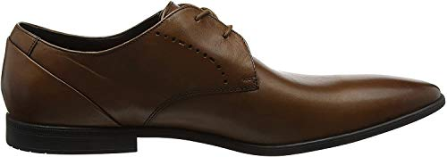 Clarks Herren Bampton Lace Derby, Braun (Tan Leather), 45 EU