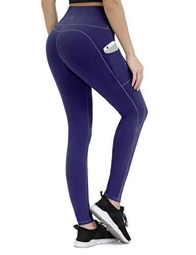 Yoga-Hose für Frauen mit Taschen, Kompressions-Workout-Leggings, Bauchkontrolle, Damen, Pants-royalblau, X-Small