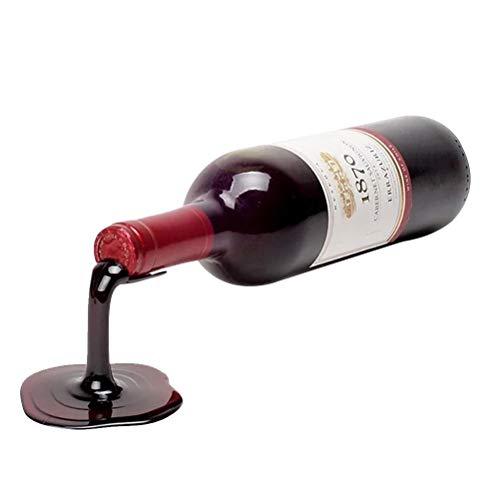 Soporte para Botellas de Vino Soporte para Botellas de Bebidas Escultura Estante para Vino Creativo Portavasos para Vino Estante para Botellas Decoración Regalo Gabinete para vinos