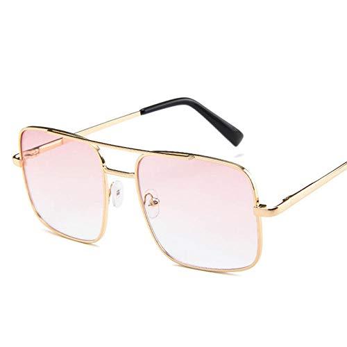 chuanglanja Gafas De Sol Mujer Aesthetic Gafas De Sol Para Mujer Gafas De Sol Retro Para Mujer Gafas De Sol Cuadradas De Metal Con Lente Oceánica Para Mujer-Color-K