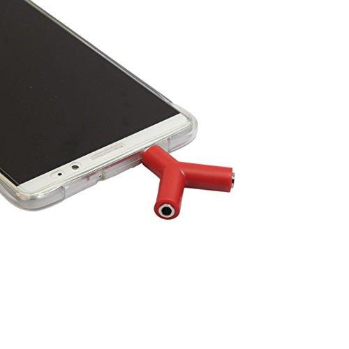 Tefamore Adaptador De 3,5 mm Stereo Audio Y-Splitter 2 Hembra a 1 Cable Macho Para Auriculares