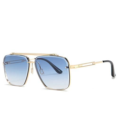 enioysun Gafas De Sol Aviador Gafas de Sol Hombres y Mujeres Metal Gafas de Sol Gafas Degradado Fresco (Lenses Color : F)