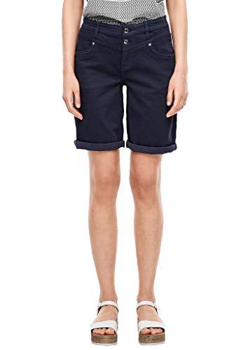 s.Oliver Damen Regular Fit: Bermuda aus Baumwollstretch dark blue stretche 38