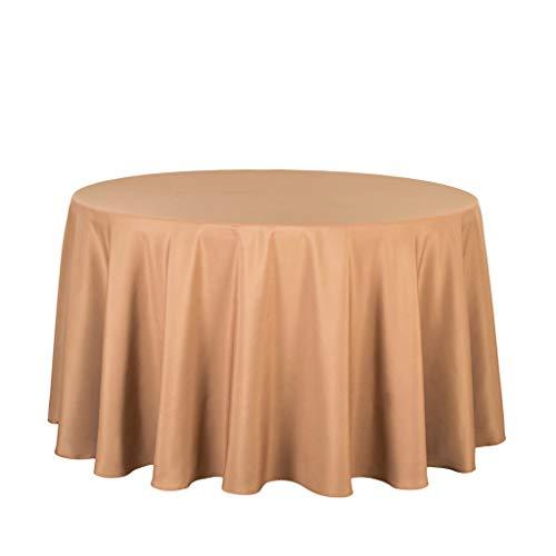 JXXDQ Ronde Nappes En Polyester De Mariage Anniversaire Accueil Parti Décoration Couverture De Table Restaurant Banquet Décorations Fournitures (Color : Bronze, Size : Round 180cm)