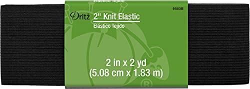 Dritz 2' Knit Elastic, Black