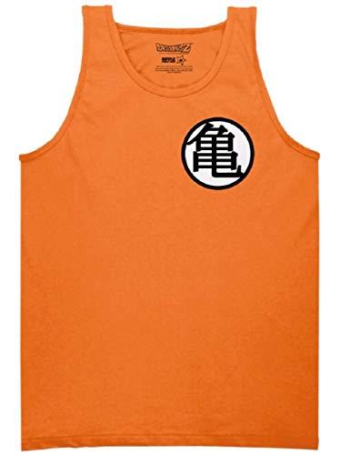 Dragon Ball Z Goku Kame Symbol Tank Top (Large) Orange