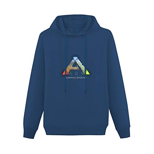 Graphic Hoodie  Ark Logo Ark Survival Evolved Long Sleeve Sweatshirts Navy XXL