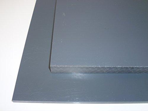 B&T Metall Hart PVC grau Platten 10,0 mm stark im Zuschnitt Größe 250 x 400 mm