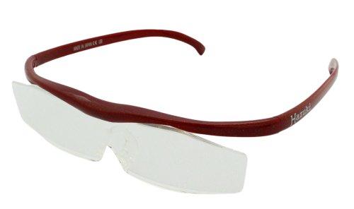 Hazuki 眼鏡式ルーペ 赤 クリアルーペ 1.6倍 普通サイズレンズ ハズキルーペ コンパクト(旧モデル)