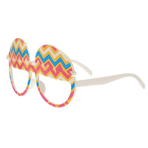 NUOBESTY Gafas de fiesta de Pascua Cracked Egg Hunt Gafas para niños Cute Gafas de sol Accesorios de fiesta