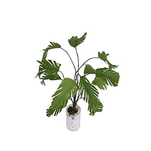 Dockskåp Vivid Gröna Växter Banana Tree Dollhouse Artificial Miniature Växt 1/12 Scale Banana Tree I Vit Flaska