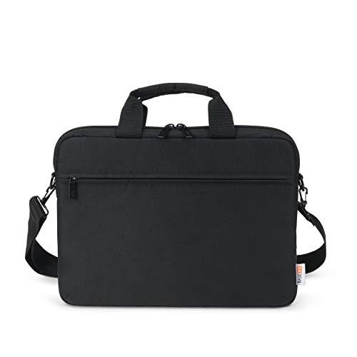 Base xx Laptop Slim Case 13 Zoll – 14.1 Zoll – Notebook Umhängetasche mit Tragegriff, Abnehmbarer Schultertragegurt, Metallreißverschluß, zusätzliches Reißverschlussfach Vorderseite, schwarz