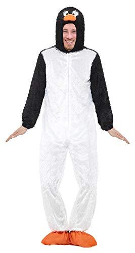Kostium zwierzęcy dla dorosłych – zabawny kombinezon na karnawał, bal męski, imprezę tematyczną i wieczór panieński, pingwin, XL
