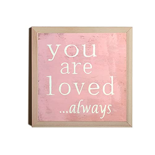 by Unbranded You are love always Pink Sign cartello in legno rosa con scritta in lingua inglese 'Shabby Segno Romanzo'