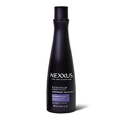 Nexxus Keraphix Conditioner for Damaged Hair Keraphix with ProteinFusion Silicone-Free With Keratin Protein and Black Rice 13.5 oz