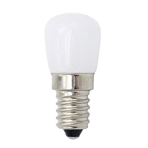 Lilideni E14 Mini LED Glühbirne 1,5 Watt SES Kühlschrank Gefrierschrank LED SMD Lampe Scheinwerfer Lampen Kronleuchter Beleuchtung AC220V (Weiß)