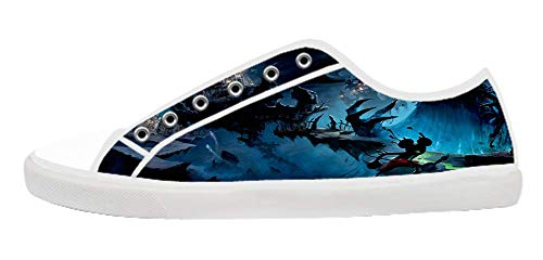 Women's Anime Style DIY White Low Top Canvas Shoes