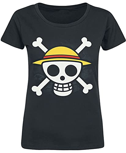 ABYstyle - One Piece – T-Shirt « Skull with Map » pour Femme Noir (XL)