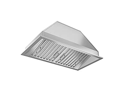 """Ancona AN-1311 Chef Series Built-in 28"""" Ducted 600 CFM Insert Range Hood with LED Lights, Silver"""