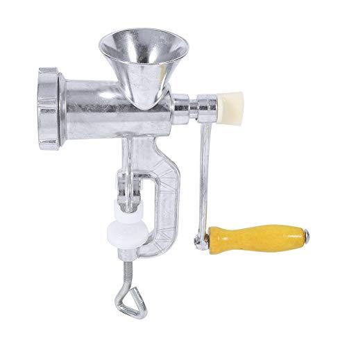 Delaman Manual Picadora Carne, Aleación Aluminio Operar a Mano Manual Molinillo Carne Salchicha Carne Picadora Carne Mesa Cocina Herramienta El Hogar