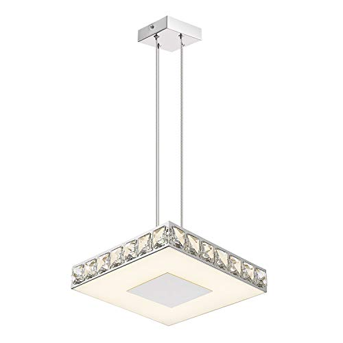 Galtap Modern Crystal Chandeliers, 14 Inch LED Square...