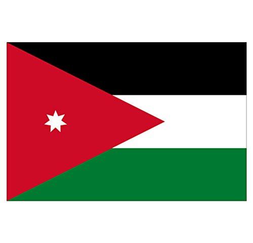 Supstick Sticker, zelfklevend, vlag van Nation Jordanië, formaat 15 x 10 cm
