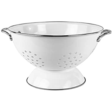 Calypso Basics by Reston Lloyd Powder Coated Enameled Colander, 5 Quart, White