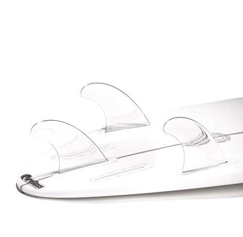 DORSAL Performance Flexrez Core Surfboard Thruster Surf Fins (3) FUT Compatible Blue