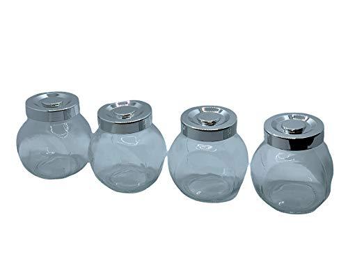 Blue Panda - Paquete de 15 frascos inclinados de cristal transparente, con tapa de rosca - ideal para decoración de bodas, hogar, fiestas, detalle de fiesta - capacidad entre 88,7 y 118,2 ml