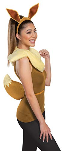 Disguise Women s Eevee Costume Kit, Brown, One Size Adult