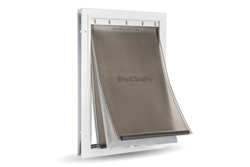 PetSafe Extreme Weather Energy Efficient Aluminum Pet Door for Cats and Dogs -Insulated Flap System - Large, ZPA19-16854